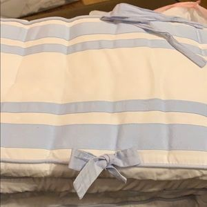 Pottery barn bumper and crib skirt